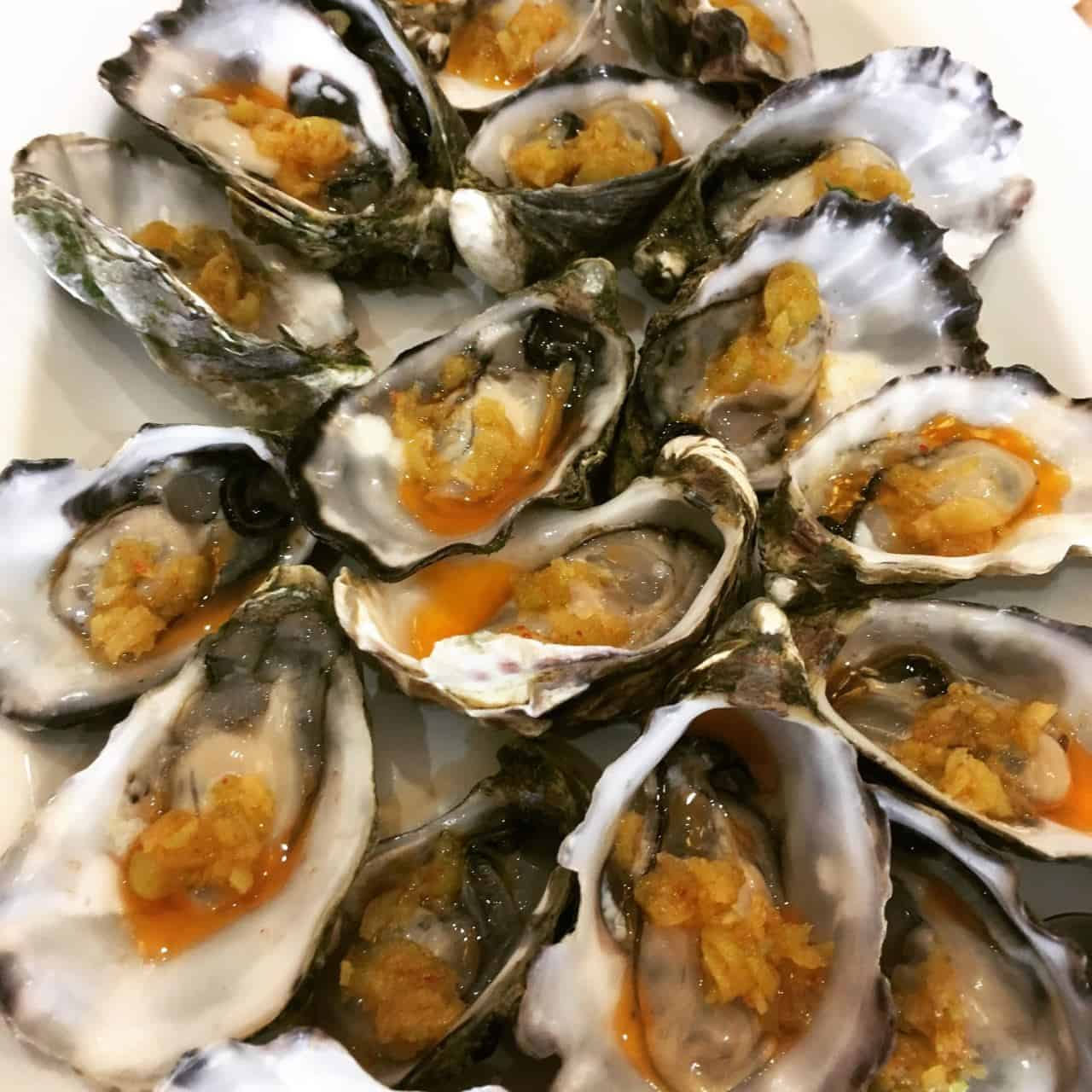 Fresh Oysters with Finger Lime Pearls